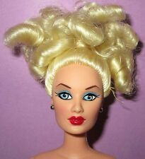 Barbie Size Integrity Blonde Blue Eyes Curly Janay Alysa Doll for OOAK or Play!