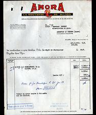 """DIJON (21) MOUTARDE de DIJON """"AMORA"""" Facture en 1953"""