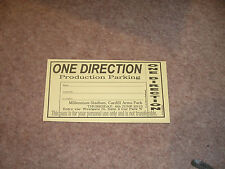 One Direction On The Road Again Tour 2015 Cardiff Production Parking Pass