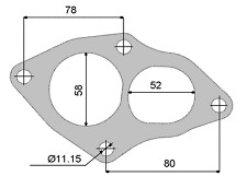 PERMASEAL TURBO OUTLET GASKET FOR MITSUBISHI EVO I II III CD9A CE9A 4G63 92-94