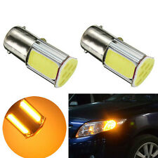 2X Car Universal Amber 12V 1156 4 COB LED Turn Signal Rear Light Car Bulb Lamp
