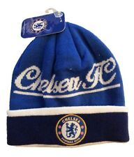 CHELSEA FC SOCCER BEANIE CAP HAT SKULLIE WINTER AUTHENTIC & OFFICIAL - NEW !!