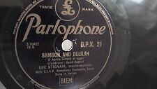 Ebe Stignani -  78rpm single 12-inch - Parlophone DPX.21 SAMSON AND DELILAH