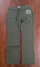 Abercrombie & Fitch Yoga Pants Sweatpants Women Sz L Skinny Classic Gray Cotton