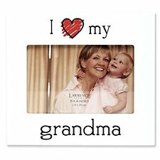 Lawrence Frames 'I Love My Grandma' Picture Frame, 6 by 4-Inch, White, New, Free
