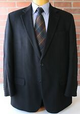 Pavone Black 100% Cashmere Sportcoat Blazer Jacket Made in Canada 44L
