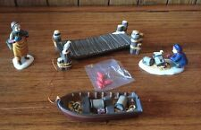 """Heritage Village Collection Department 56 """"Lobster Trapper"""" Set Of 4 Accessories"""