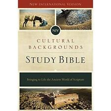 FREE 2 DAY SHIPPING: NIV, Cultural Backgrounds Study Bible, Hardcover, Red