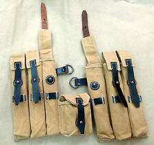 WWII German MP 40 Magazine DAK Pouch Set