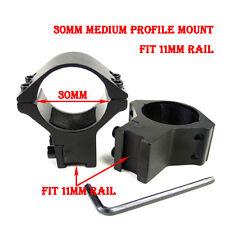 2X Heavy Duty 30mm Ring 11mm Rail Dovetail Rail Scope Mount For Sight Flashlight
