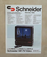 D965 - Advertising Pubblicità -1987- SCHNEIDER TV COLOR E VIDEOREGISTRATORE