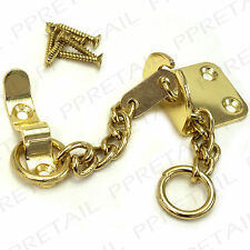 ★SLIM FIT★BRASS DOOR CHAIN★FOR THIN/NARROW PANEL/FRAME★Small Security Catch Lock