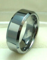 Men 8mm Tungsten Carbide Wedding Band ring size 8 to 12