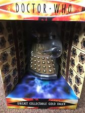 """DOCTOR WHO DIECAST METAL COLLECTABLE 5"""" GOLD DALEK  (NEW) RARE"""