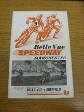 18/08/1971 Speedway Programme: Belle Vue v Sheffield (results/riders/positions a