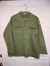 Vietnam War US Army 22nd Field Army Support Command OG-107 Sateen Utility Shirt
