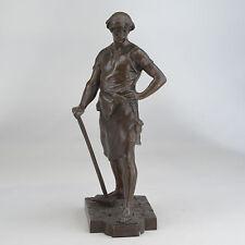 Emile Louis Picault  Fr 1833-1915 Pax Et Labor Peace and labor bronze signed