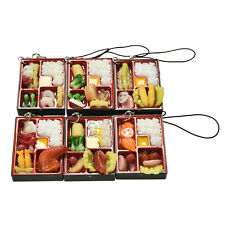 Simulation Sushi Key Chain Keyring Fake Japanese Food Box Lanyard Keychain EW