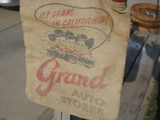 Vintage Auto Stores California Early Pep Boys Minnie Moe Jack Minnequa Water Bag