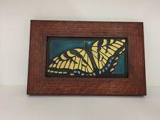 Motawi Swallowtail Butterfly Art Tile Family Woodworks Oak Park ArtsCrafts Frame