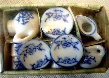 Objet de collection maison de poupées accessoires-blue & white tea set-bnib