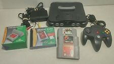 Nintendo 64 Console System Bundle w/ Controller Cords GAMES Accessories - TESTED