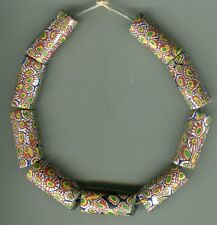 African Trade beads Vintage Venetian glass beads matched millefiori