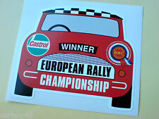 BMC Rosette CASTROL européenne rallye mini fans decal sticker 1 Off 100mm