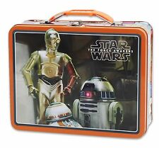 Star Wars Large Embossed Tin Lunch Box - Droids {48550} Embossed front lid AOI