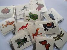 INSECT & REPTILE TATTOOS  (  GLITTER ) LOT 0F 144 CARNIVALS, PARTIES TOYS FAVORS