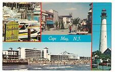 MARINA MALL LIGHTHOUSE and SKYLINE Multi View CAPE MAY NEW JERSEY NJ POSTCARD