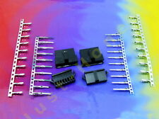 Stk.2x BUCHSE / STECKER 8 polig Male+Female Connector 20x CRIMPKONTAKTE #A575