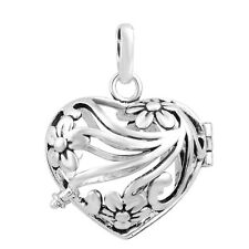 Angel Caller Cage Pendant Locket Silver Plated Jewelry for 18mm Harmony ball