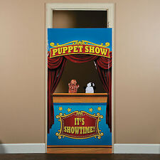 Carnival Big Top Tent Circus Party Decoration Prop PUPPET SHOW DOOR BANNER