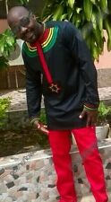 Odeneho Wear Rastafarian Inspired Men's Top & Bottom.  African Clothing