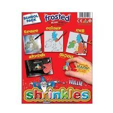 Shrink Art Shrinkles Shrinkies-reducir láminas de plástico esmerilado 50 Paquete de aula