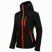 Women's Soft Shell Outdoor Jacket Waterproof Breathable Climbing Softshell Coat