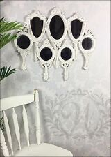 Mirror Vintage Antique Style Wall Hanging 7 Piece Wooden Handle Shabby Chic