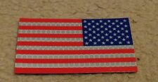 ARMY PATCH,,IFF, REVERSE U.S.FLAG, FULL COLOR, REFLECTIVE, WITH VELCR