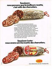 PUBLICITE  1973   LOSTE  saucisson charcuterie