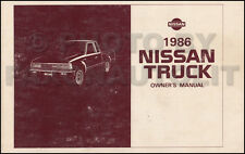 1986 Nissan Pickup Truck Owners Manual Owner Guide Book 720 Pick-Up Gas Diesel