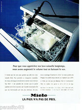 PUBLICITE ADVERTISING 056  1997  le lave vaisselle Miele  Top Solo