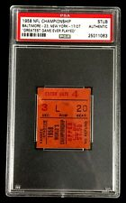 1958 NFL CHAMPIONSHIP BALTIMORE COLTS VS NEW YORK GIANTS TICKET PSA AUTHENTIC