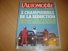 L'automobile N°438 Golf GTi 1800 / Alfasud Ti 1500 / Escort XR3i.Peugeot 305 GT
