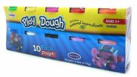 10 PACK CHILDRENS KIDS PLAY DOUGH DOH TUBS CRAFT XMAS CHRISTMAS TOY