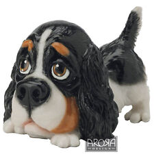 Arora design Little Paws Cavalier King Charles Spaniel Figurine  Gift box 23452