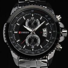 relojes de los hombres reloj de pulsera de cuarzo de los deportes ocasionales