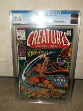 CREATURES ON THE LOOSE #10 CGC 9.6 NEAR MINT NM 1ST KULL 3/71 CLEVELAND PEDIGREE