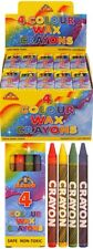 21x PACKS OF KIDS COLOURING WAX CRAYONS PARTY BAG FILLER UK SELLER
