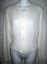 Black Label GIORGIO ARMANI Peachy Ivory Silk Fitted Blouse 42 US 4 $600 Xlnt
